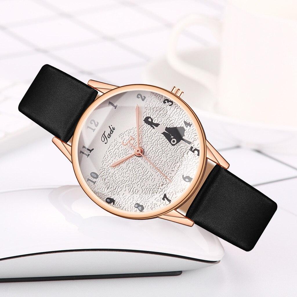 Элегантные часы «Jadi» с красивым циферблатом и узким чёрным ремешком купить. Цена 290 грн