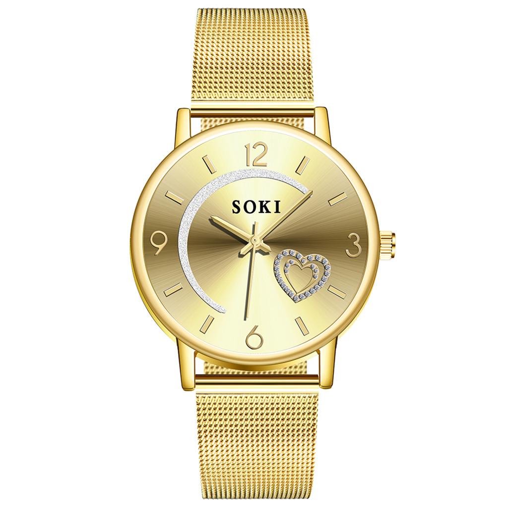 Новые женские часы «SOKI» золотого цвета с металлическим ремешком купить. Цена 299 грн