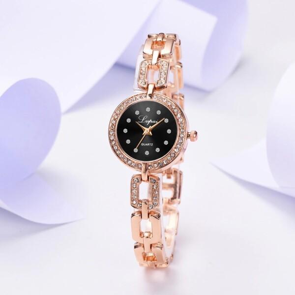 Лаконичные женские часы «Lvpai» с красивым браслетом золотого цвета купить. Цена 345 грн