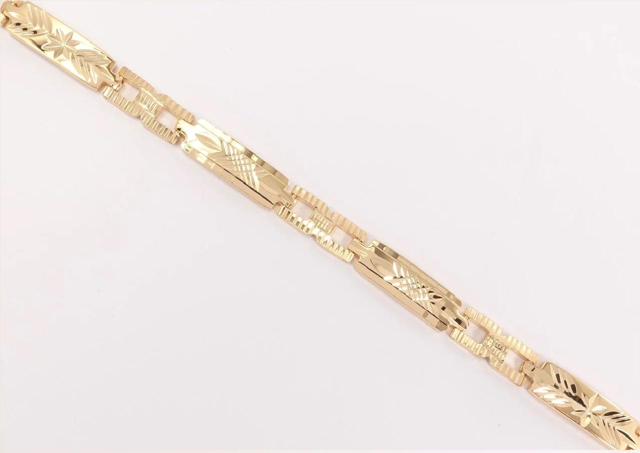Красивый браслет «Узорчатый» с алмазным рисунком на фигурных звеньях купить. Цена 275 грн