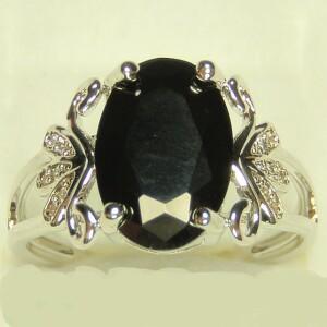 Уникальное кольцо «Монблан» с крупным чёрным кристаллом купить. Цена 190 грн
