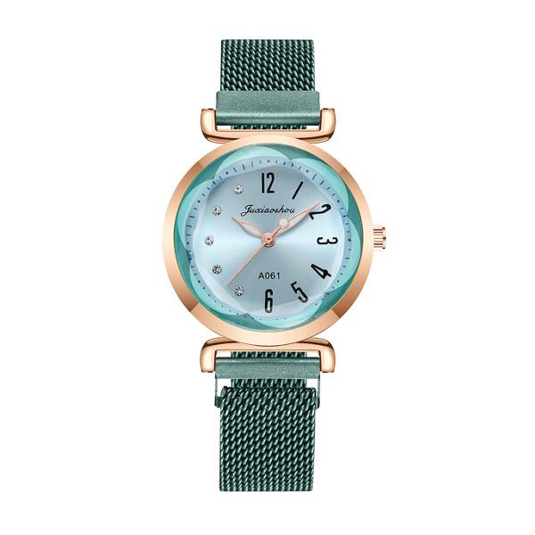 Изумительные женские часы «Juxiaoshou» мятного цвета с магнитной застёжкой купить. Цена 399 грн
