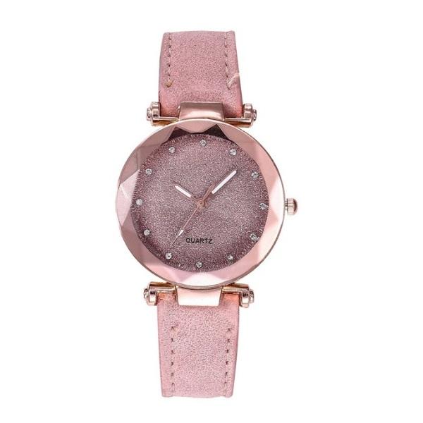 Милые наручные часы «Quartz» с объёмным стеклом и ремешком цвета пудры купить. Цена 235 грн