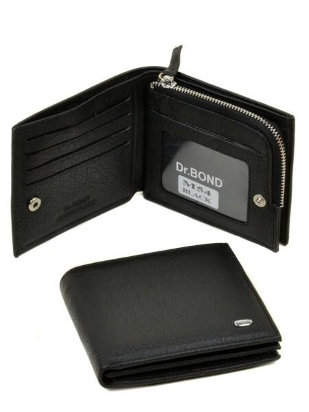 Интересный мужской бумажник «Dr.Bond» из кожи флотар чёрного цвета купить. Цена 599 грн
