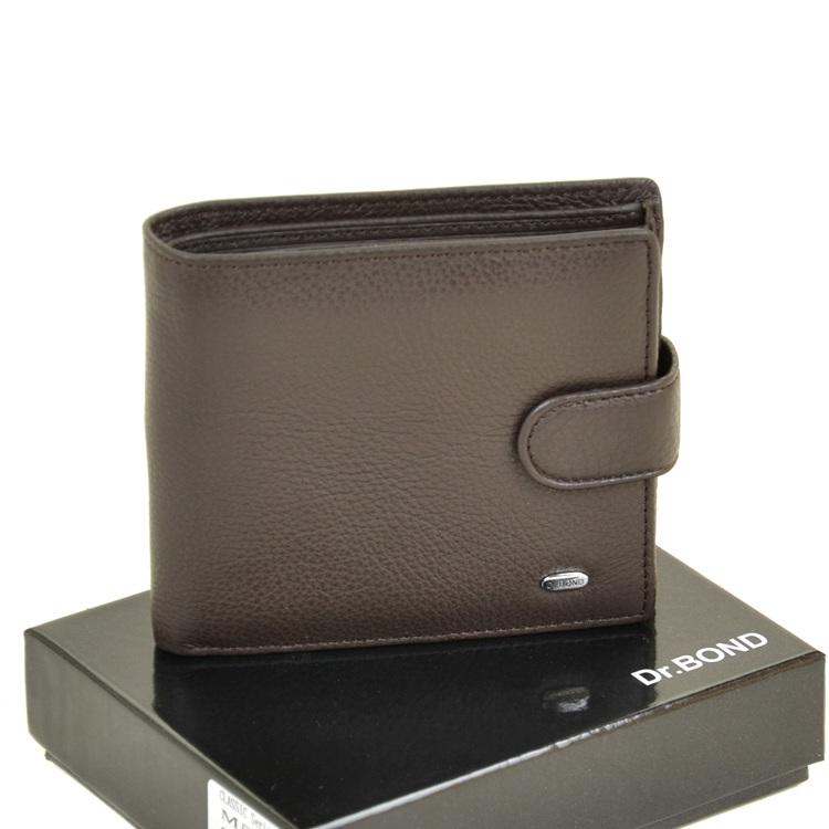 Солидный мужской бумажник «Dr.Bond» из мягкой кожи с вместительной визитницей купить. Цена 685 грн