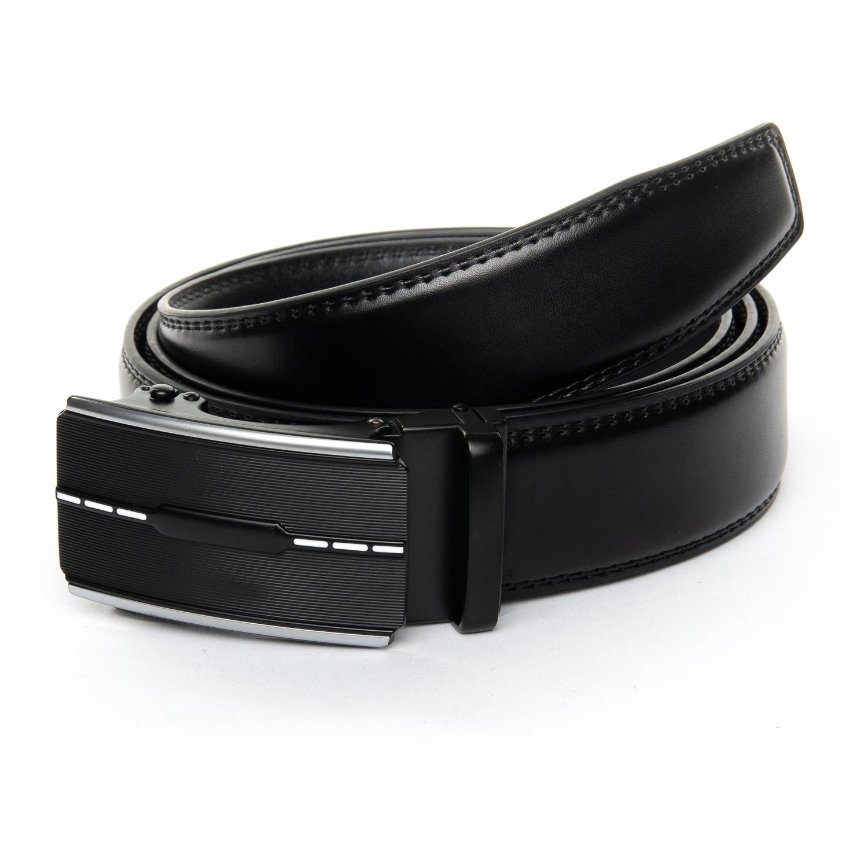 Чёрный мужской ремень «Danmaneao» из гладкой кожи с автоматической пряжкой купить. Цена 375 грн