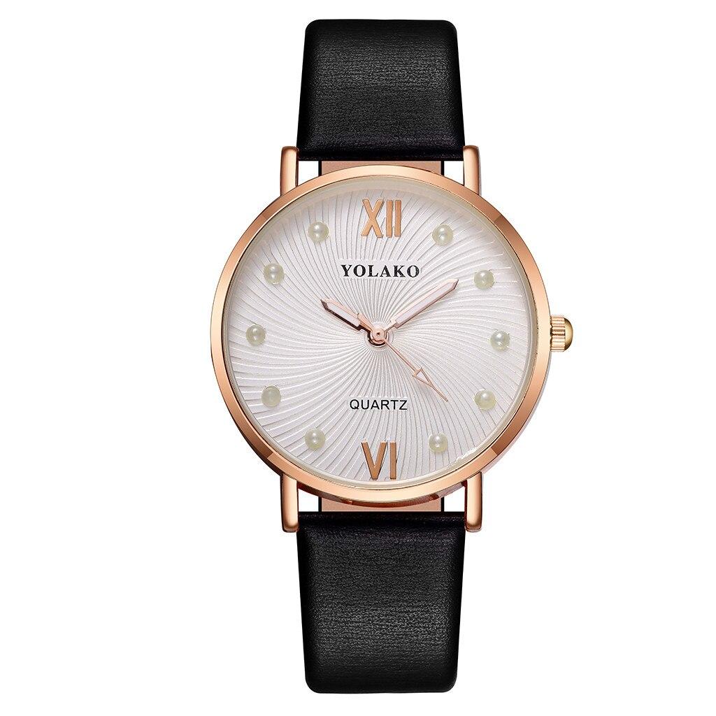 Романтичные часы «Yolako» с красивым циферблатом и гладким чёрным ремешком купить. Цена 290 грн