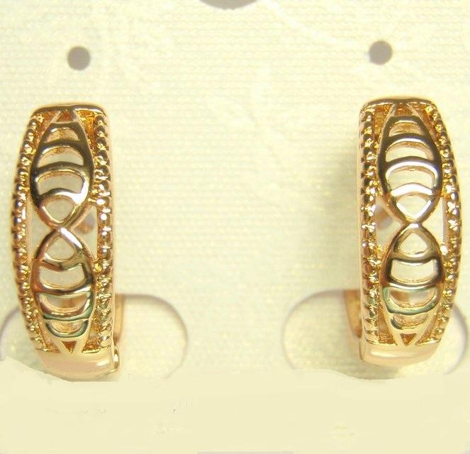 Недорогие ажурные серьги «Триполи» с качественной позолотой,без камней и вставок купить. Цена 99 грн