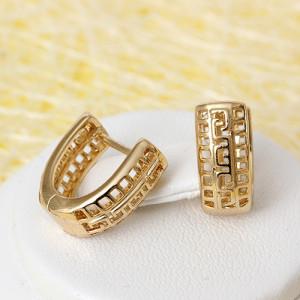 Обычные серьги «Фессалия» без камней и вставок с золотым покрытием фото. Купить