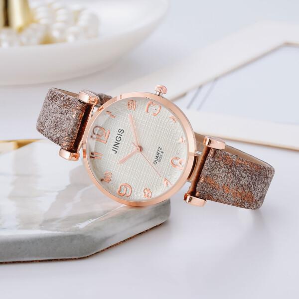Прекрасные женские часы «Jingis» с объёмным стеклом и красивым ремешком купить. Цена 325 грн