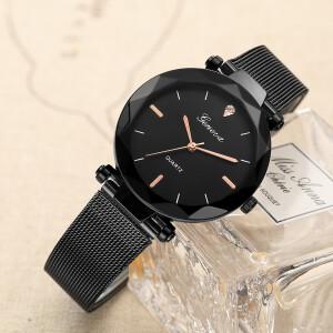 Популярные часы «Geneva» с чёрным корпусом на чёрном ремешке купить. Цена 299 грн