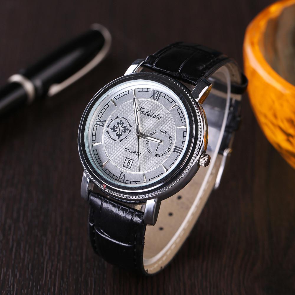Отличные мужские часы «Faleidu» в ретро-стиле с окошком даты купить. Цена 340 грн