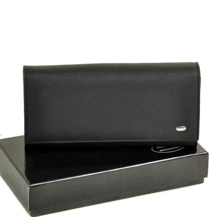 Строгий кошелёк «Dr.Bond» из мягкой качественной кожи чёрного цвета купить. Цена 699 грн