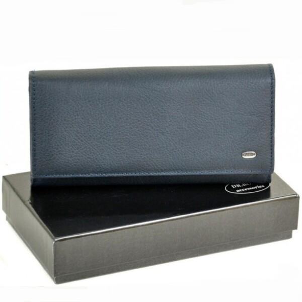 Синий женский кошелёк «Dr.Bond» из мягкой кожи с кнопочной застёжкой купить. Цена 699 грн