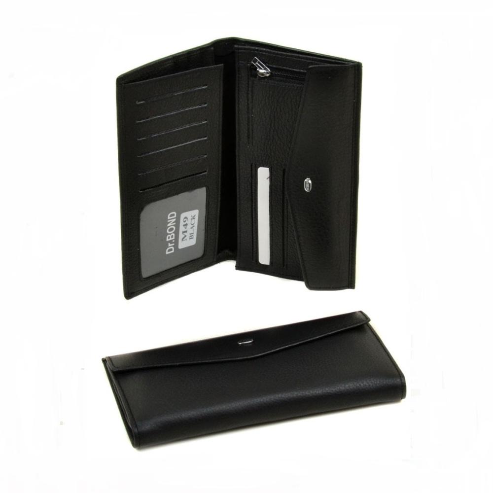 Мужской купюрник «Dr.Bond» из мягкой натуральной кожи чёрного цвета купить. Цена 690 грн