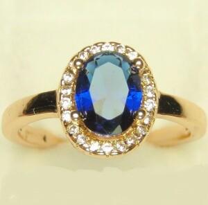 Благородное кольцо «Констанция» с синим камнем от производителя Xuping купить. Цена 185 грн