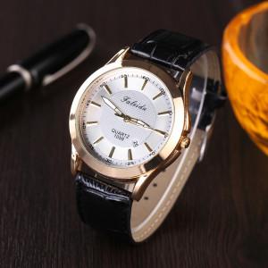 Классные мужские часы «Faleidu» с функцией отображения даты и чёрным ремешком фото. Купить
