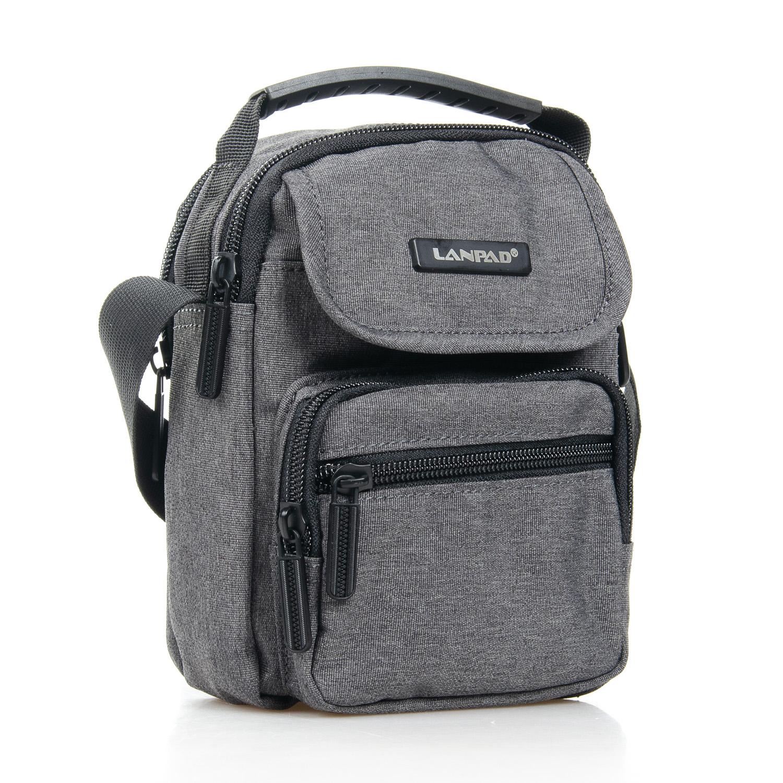 Качественная сумка «Lanpad» из серого нейлона с ручкой и длинным ремешком купить. Цена 375 грн