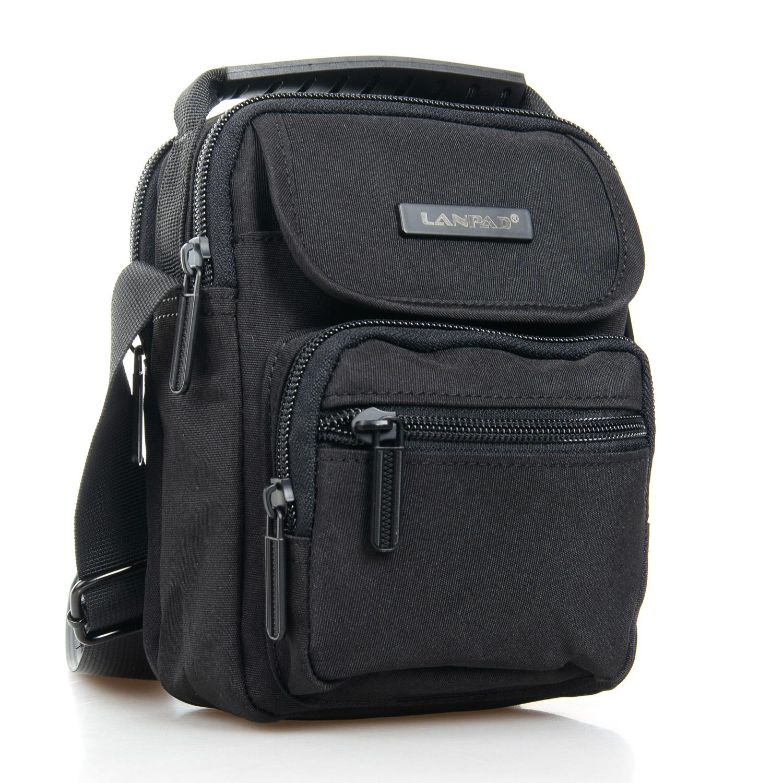 Маленькая мужская сумка «Lanpad» из качественного чёрного нейлона купить. Цена 385 грн
