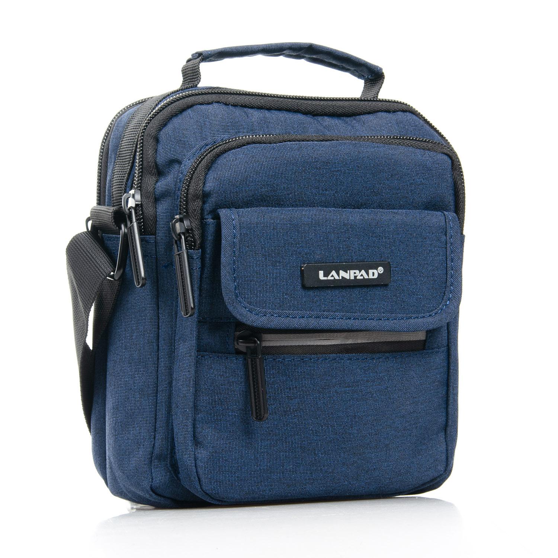Практичная мужская сумка «Lanpad» из плотного нейлона синего цвета купить. Цена 385 грн