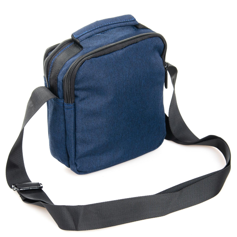 Практичная мужская сумка «Lanpad» из плотного нейлона синего цвета фото 1