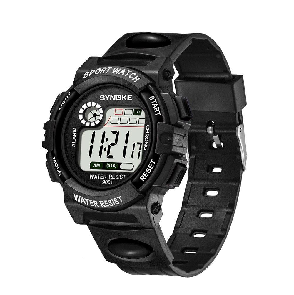 Традиционные спортивные часы «Synoke» с чёрным каучуковым ремешком купить. Цена 255 грн