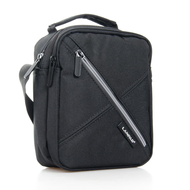 Отличная мужская сумка «Lanpad» из качественного чёрного нейлона купить. Цена 385 грн