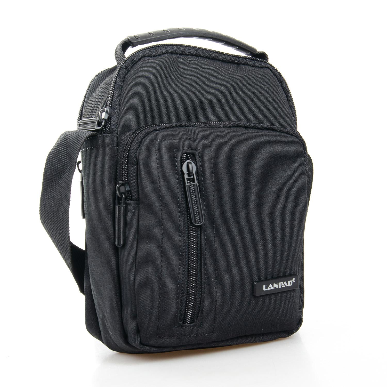 Чёрная нейлоновая сумка «Lanpad» небольшого размера купить. Цена 385 грн
