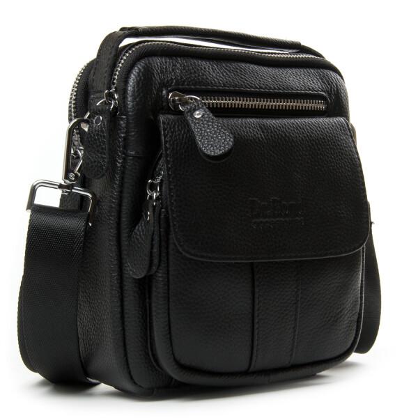 Компактная мужская сумка «Dr.Bond» из мягкой зернистой кожи чёрного цвета купить. Цена 1375 грн