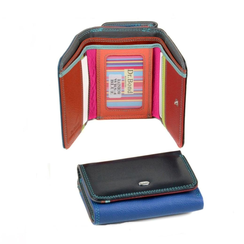 Разноцветный короткий кошелёк «Dr.Bond» из качественной мягкой кожи купить. Цена 699 грн