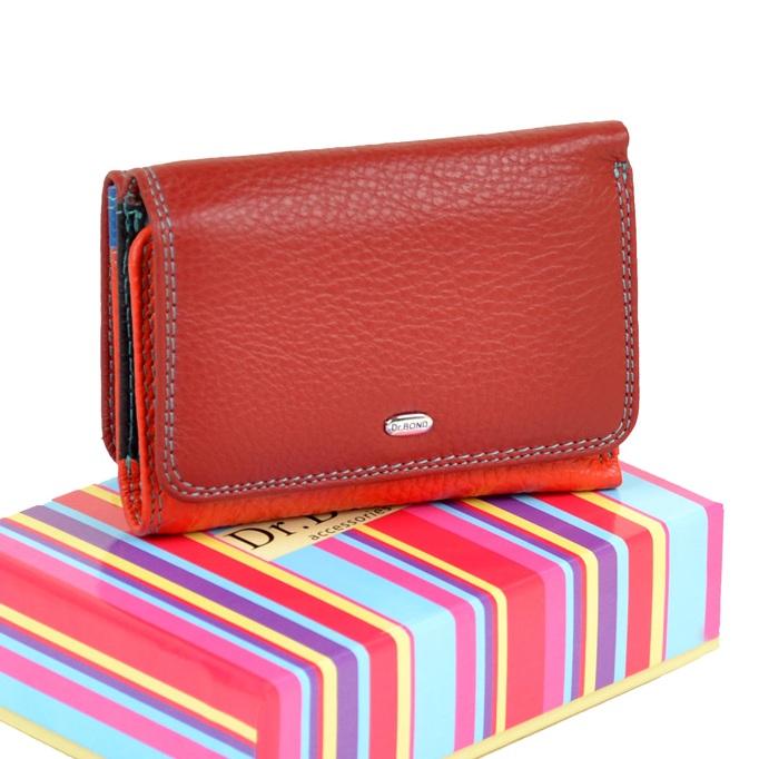 Короткий кошелёк «Dr.Bond» из мягкой кожи яркой расцветки купить. Цена 699 грн