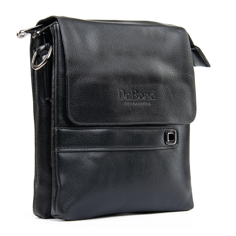 Традиционная мужская сумка «Dr.Bond» из гладкой экокожи чёрного цвета купить. Цена 535 грн