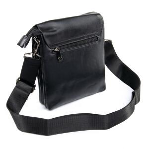 Традиционная мужская сумка «Dr.Bond» из гладкой экокожи чёрного цвета фото 1