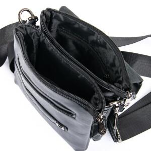Традиционная мужская сумка «Dr.Bond» из гладкой экокожи чёрного цвета фото 2
