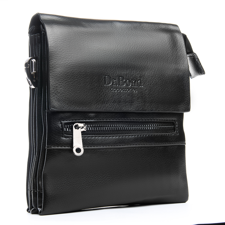 Практичная мужская сумка «Dr.Bond» из экокожи с тремя отделами под клапаном купить. Цена 535 грн