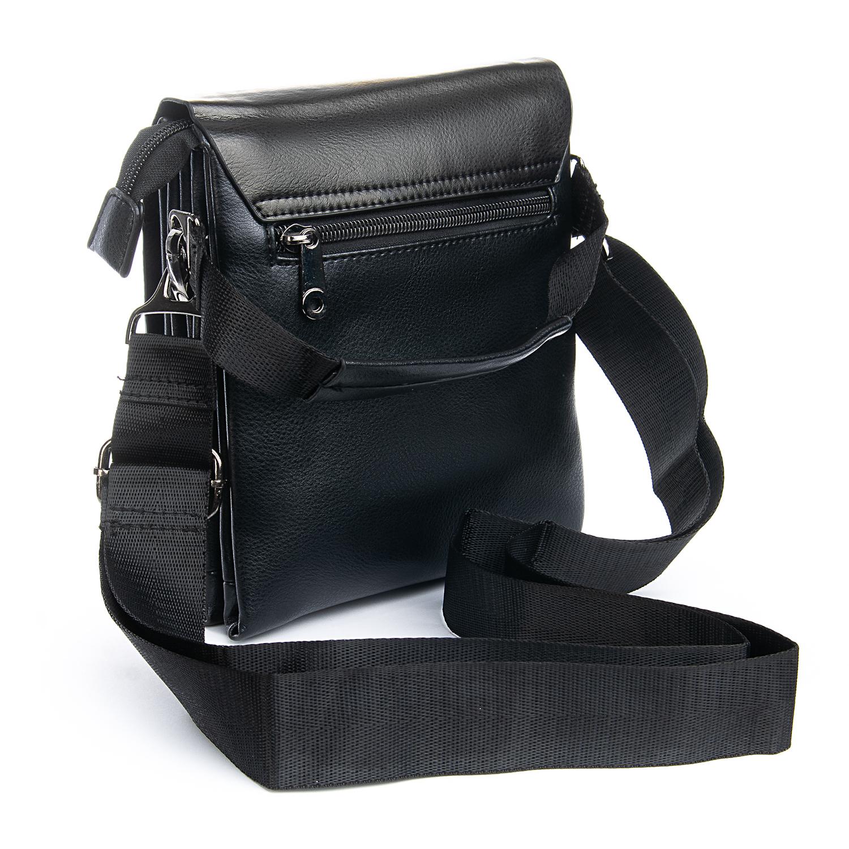 Практичная мужская сумка «Dr.Bond» из экокожи с тремя отделами под клапаном фото 1