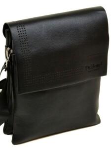 Чёрная мужская сумка «Dr.Bond» с красивым клапаном со скрытыми магнитами купить. Цена 599 грн