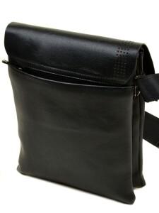 Чёрная мужская сумка «Dr.Bond» с красивым клапаном со скрытыми магнитами фото 1