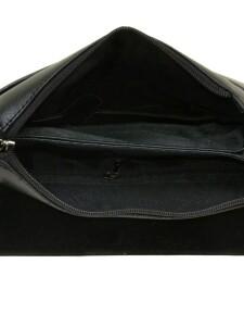Чёрная мужская сумка «Dr.Bond» с красивым клапаном со скрытыми магнитами фото 2