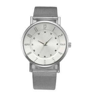 Металлические женские кварцевые часы «Quartz» на ремешке-кольчуге купить. Цена 245 грн