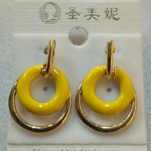 Брендовые серьги «Ani Vinnie» из металла с жёлтой эмалью и покрытием под золото купить. Цена 59 грн