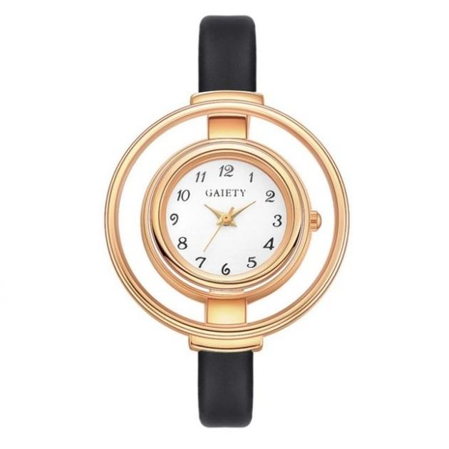 Модные женские часы «Gaiety» с классическим циферблатом и узким ремешком купить. Цена 275 грн