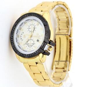 Золотого цвета часы «Romand» с белым циферблатом и металлическим браслетом купить. Цена 350 грн