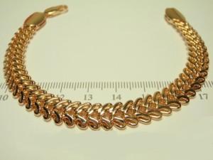 Мощный мужской браслет необычного плетения с золотым напылением купить. Цена 340 грн