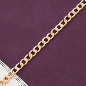 Тонкий позолоченный браслет классического панцирного плетения купить. Цена 175 грн