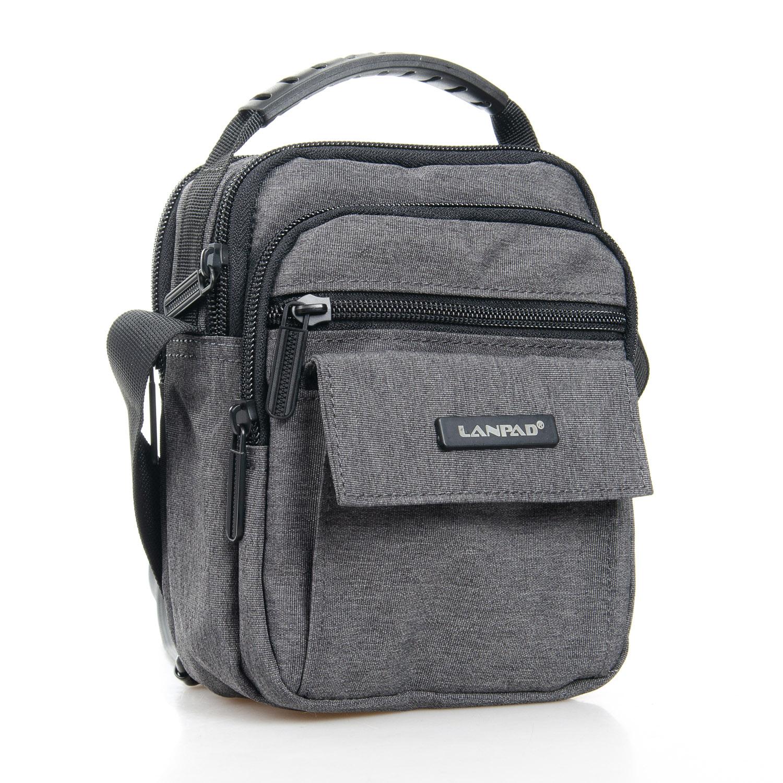 Маленькая сумка «Lanpad» из практичного серого нейлона купить. Цена 385 грн