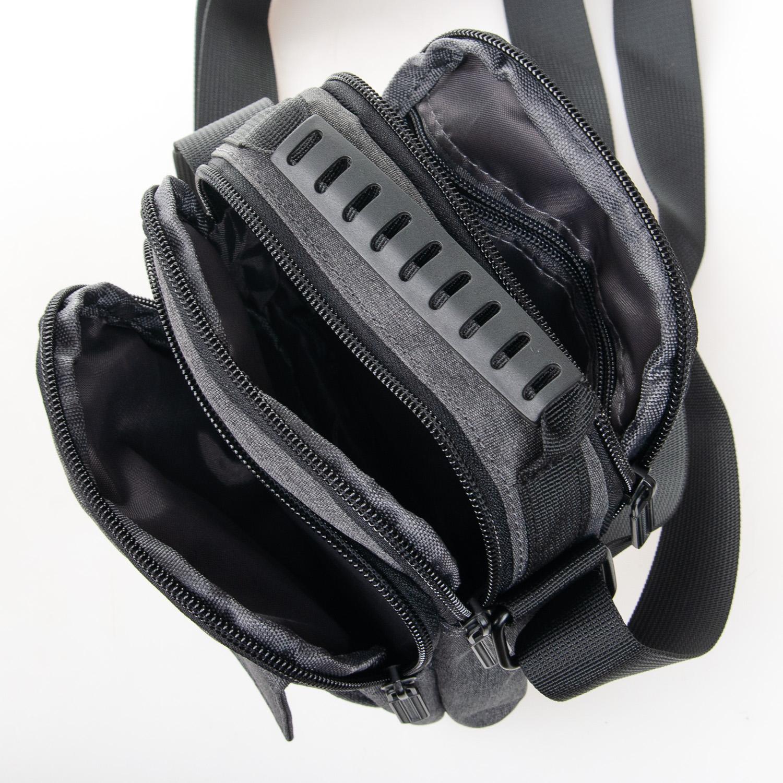Маленькая сумка «Lanpad» из практичного серого нейлона фото 2