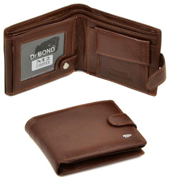 Светло-коричневый бумажник «Dr.Bond» из натуральной фактурной кожи купить. Цена 590 грн