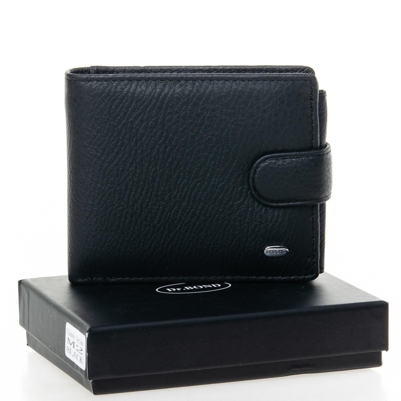Популярный бумажник «Dr.Bond» из чёрной кожи с отделениями для документов купить. Цена 590 грн