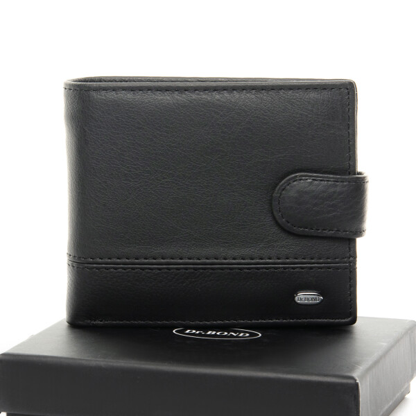 Солидный мужской бумажник «Dr.Bond» классической раскладки из мягкой кожи купить. Цена 599 грн